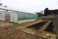 Far end of the main polytunnel, where the QT will be located